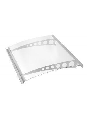 Deurluifel Style Plus Cirkel Getoogd  polycarbonaat helder Edelstaal V2A 1600x900x170